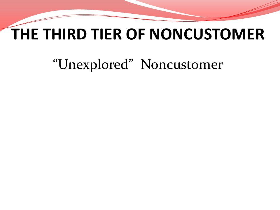 THE THIRD TIER OF NONCUSTOMER Unexplored Noncustomer