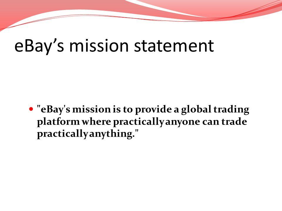 eBays mission statement
