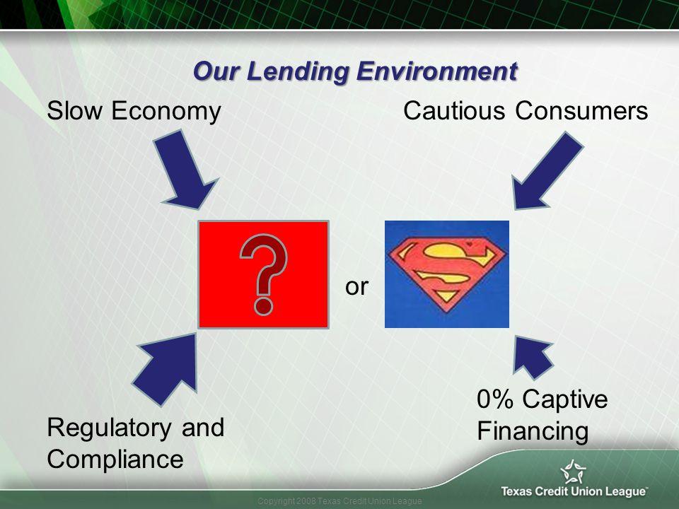 Copyright 2008 Texas Credit Union League Lending Tips