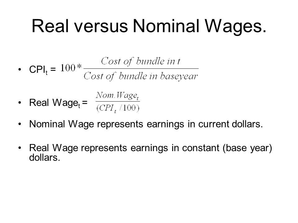Real versus Nominal Wages.
