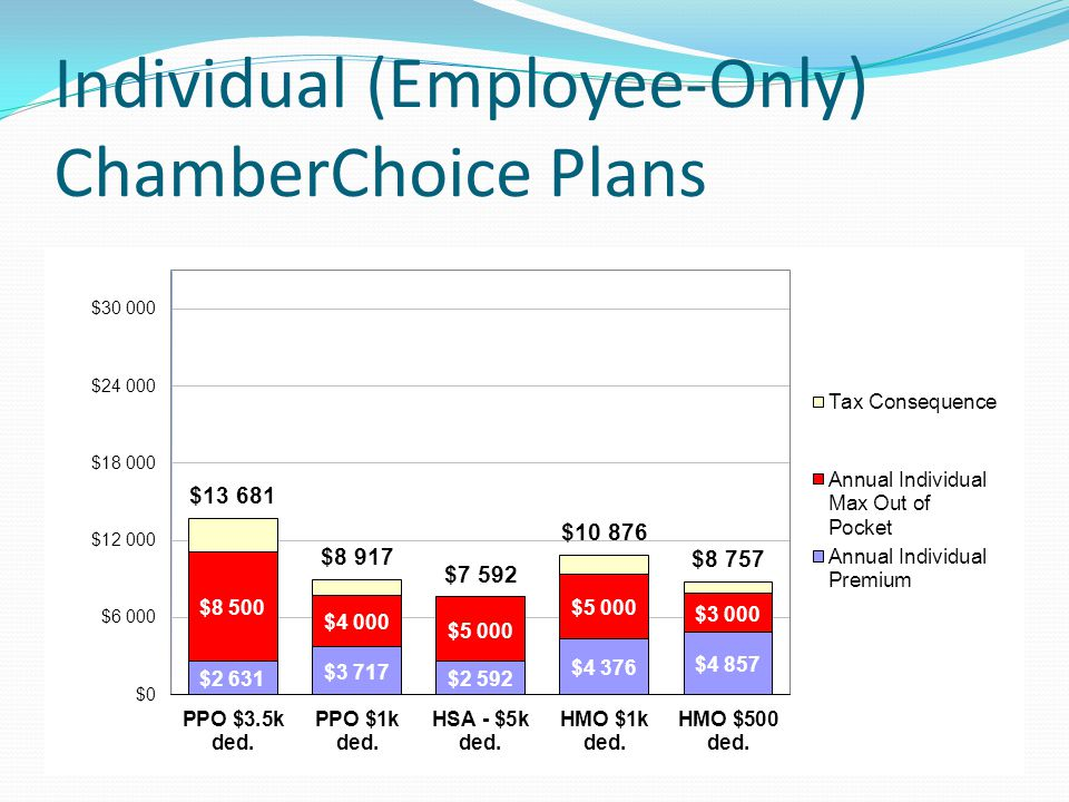 Individual (Employee-Only) ChamberChoice Plans