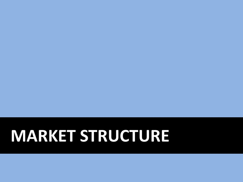Market Structure The nature and degree of competition among firms in the same industry