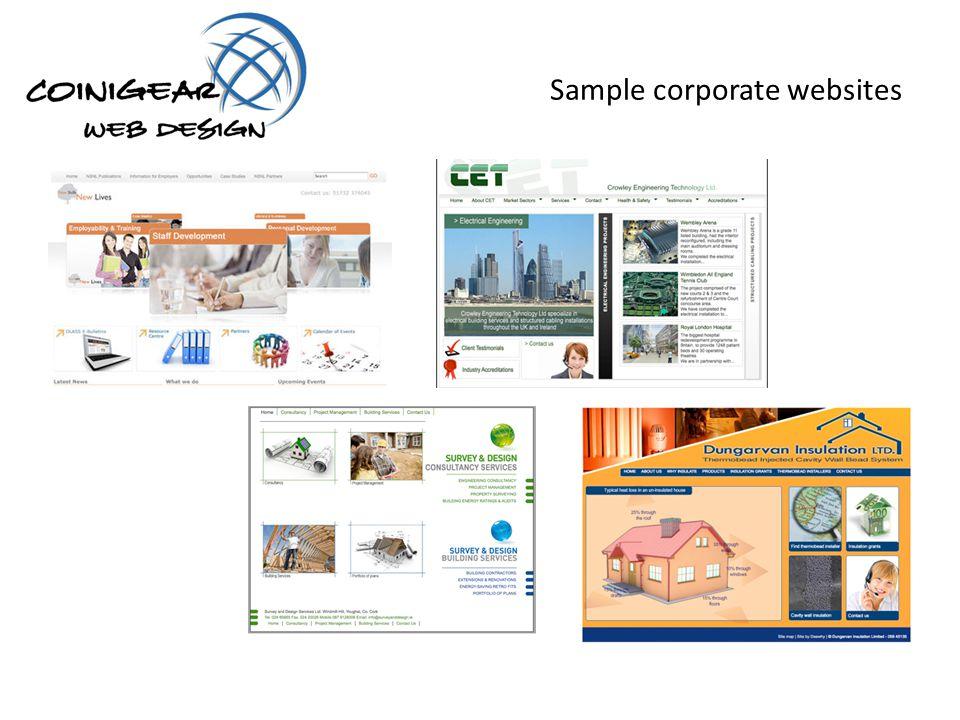 Sample corporate websites