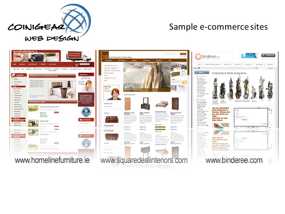 Sample e-commerce sites