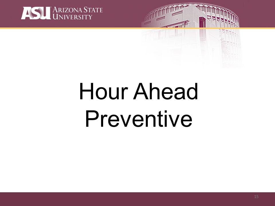 15 Hour Ahead Preventive