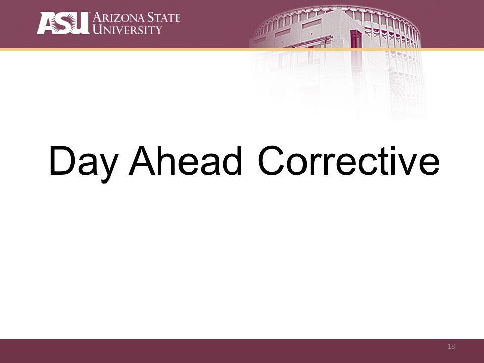 18 Day Ahead Corrective