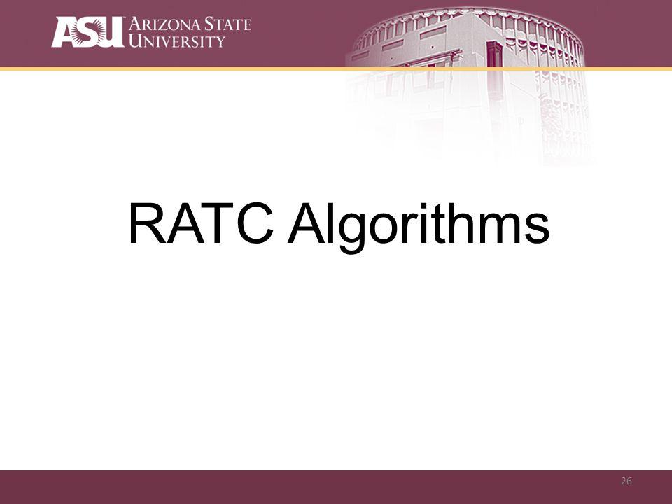 26 RATC Algorithms