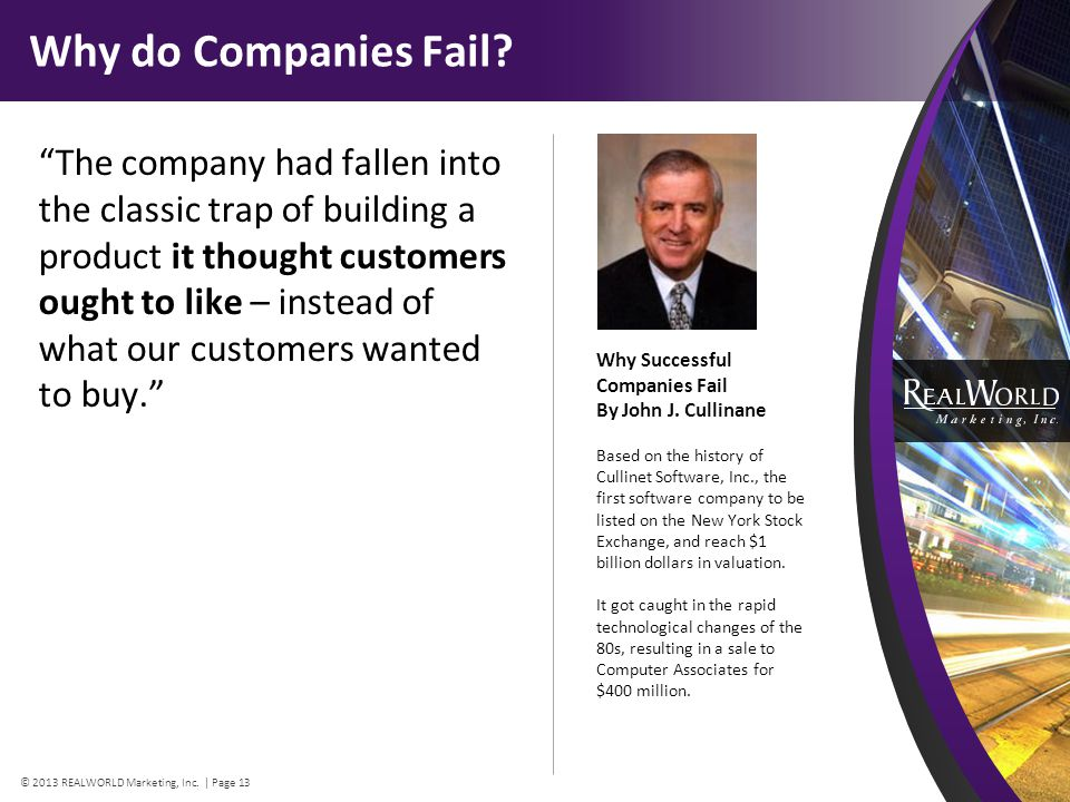Why do Companies Fail.