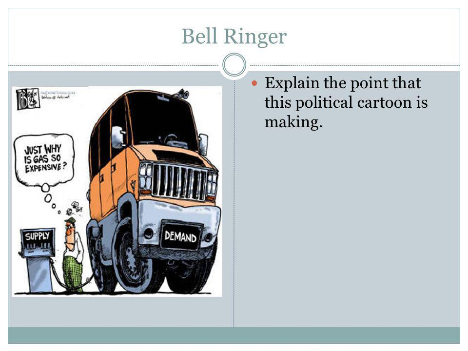 Bell Ringer Explain the point that this political cartoon is making.