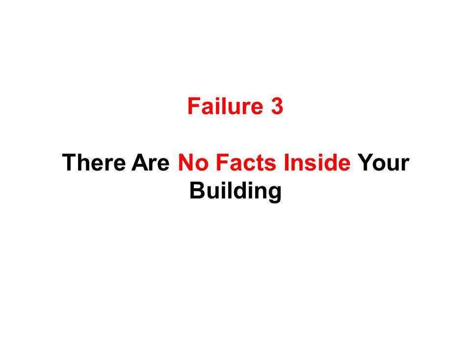Failure 3 There Are No Facts Inside Your Building