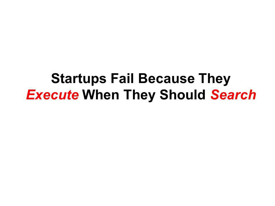 Startups Fail Because They Execute When They Should Search