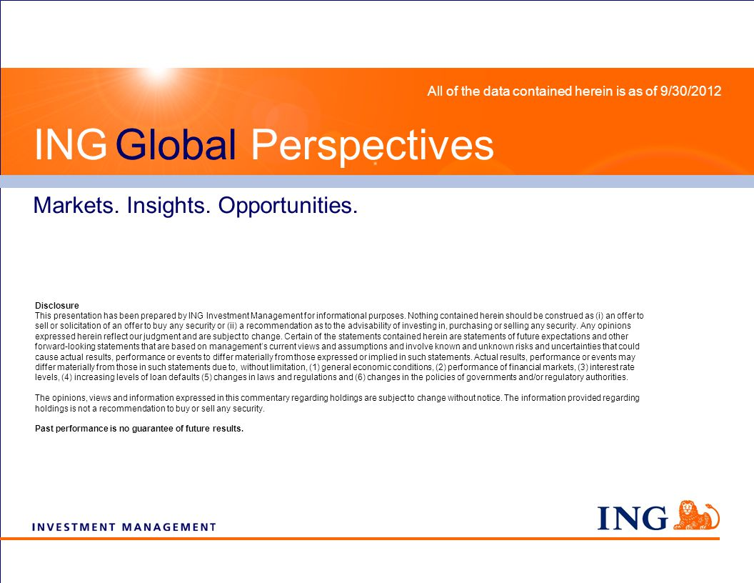 The Folly of Gaming Diversification Global Perspectives on the Markets Tectonic Shifts Impacting Global Growth ING Global Perspectives Markets.