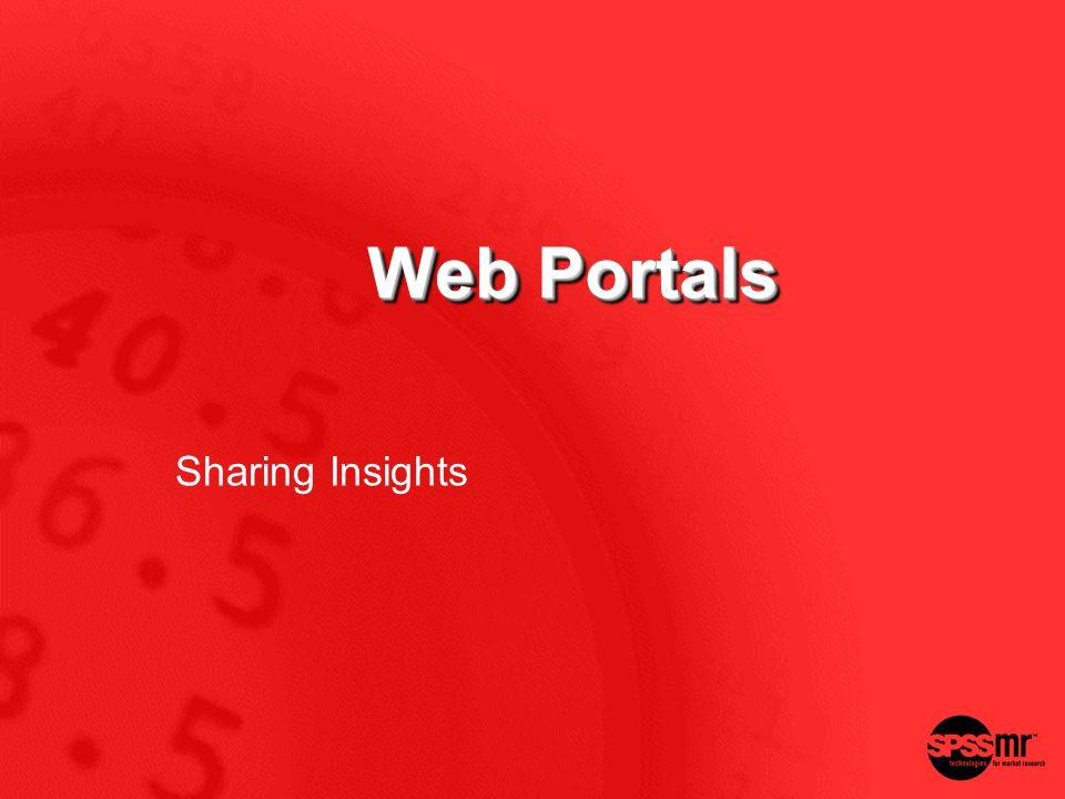 Web Portals Sharing Insights
