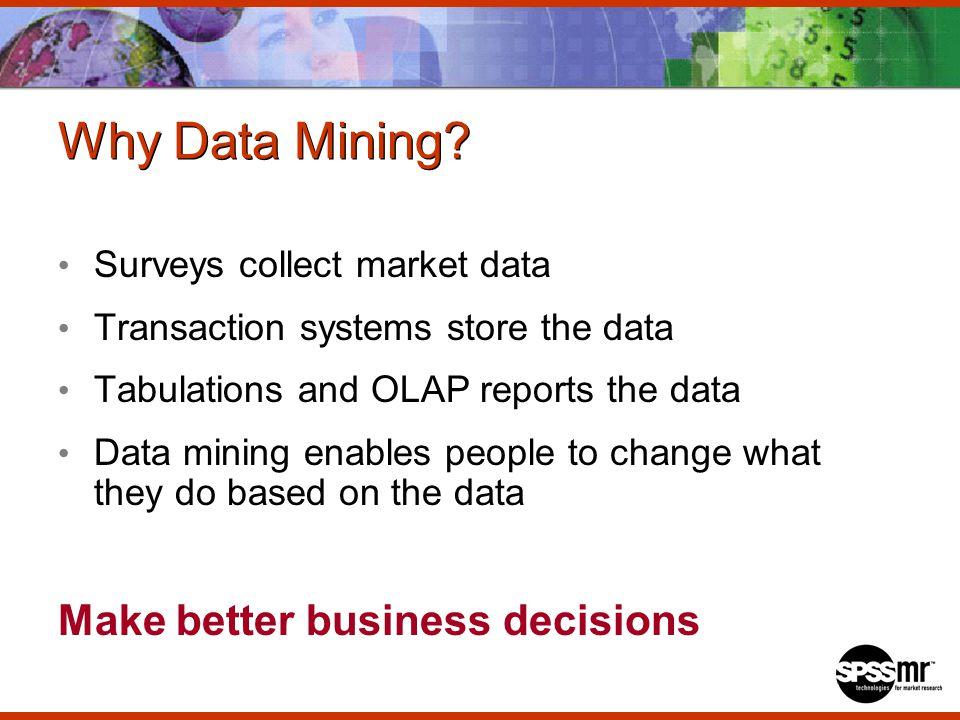 Why Data Mining.