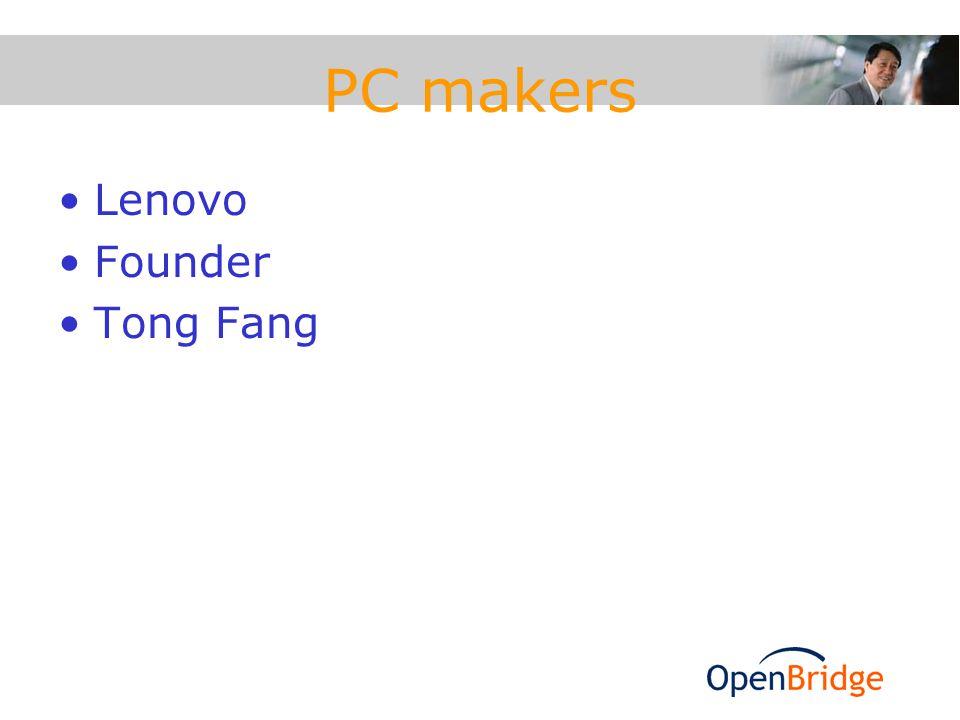 PC makers Lenovo Founder Tong Fang