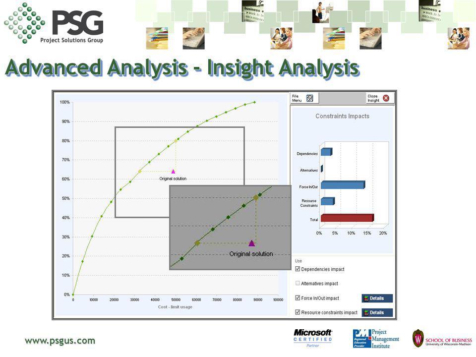 www.psgus.com Advanced Analysis - Insight Analysis