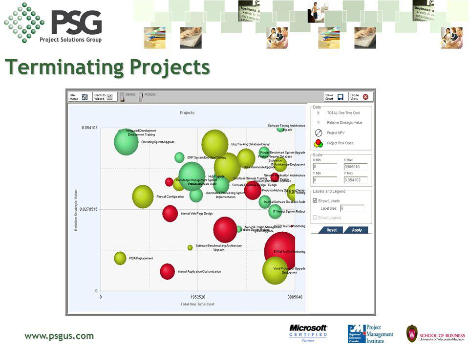 www.psgus.com Terminating Projects
