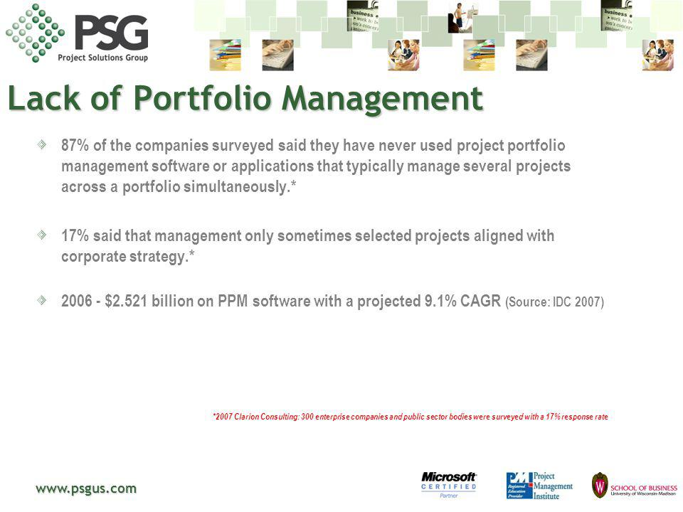 www.psgus.com What is Portfolio Management worth.