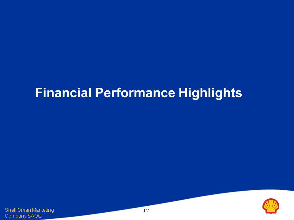 Shell Oman Marketing Company SAOG 17 Financial Performance Highlights