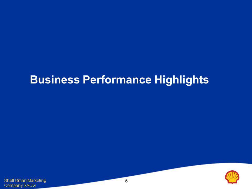 Shell Oman Marketing Company SAOG 6 Business Performance Highlights