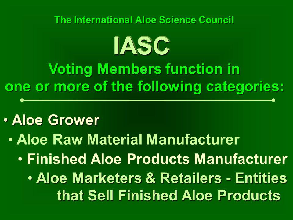 IASCIASC Aloe Marketers & Retailers - Entities that Sell Finished Aloe Products Aloe Marketers & Retailers - Entities that Sell Finished Aloe Products