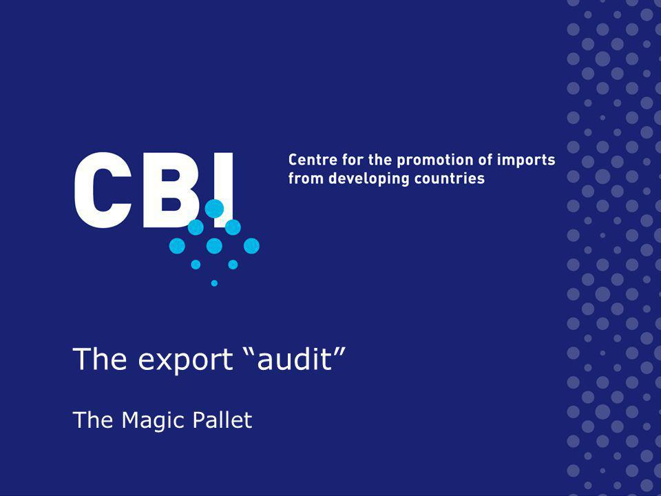 The export audit The Magic Pallet