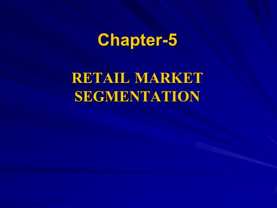 Chapter-5 RETAIL MARKET SEGMENTATION