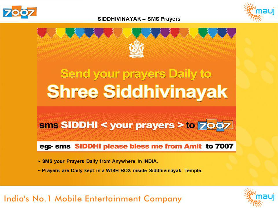 SIDDHIVINAYAK – SMS Prayers ~ SMS your Prayers Daily from Anywhere in INDIA.