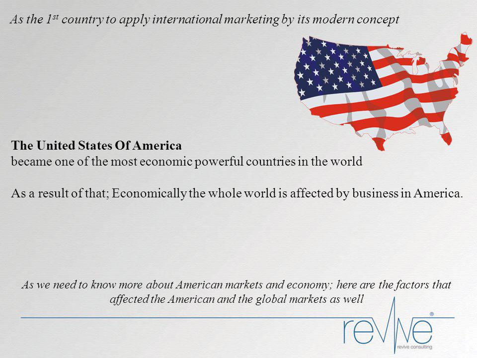 International Marketing Companies in this stage are fully committed to and involved in international marketing activities.