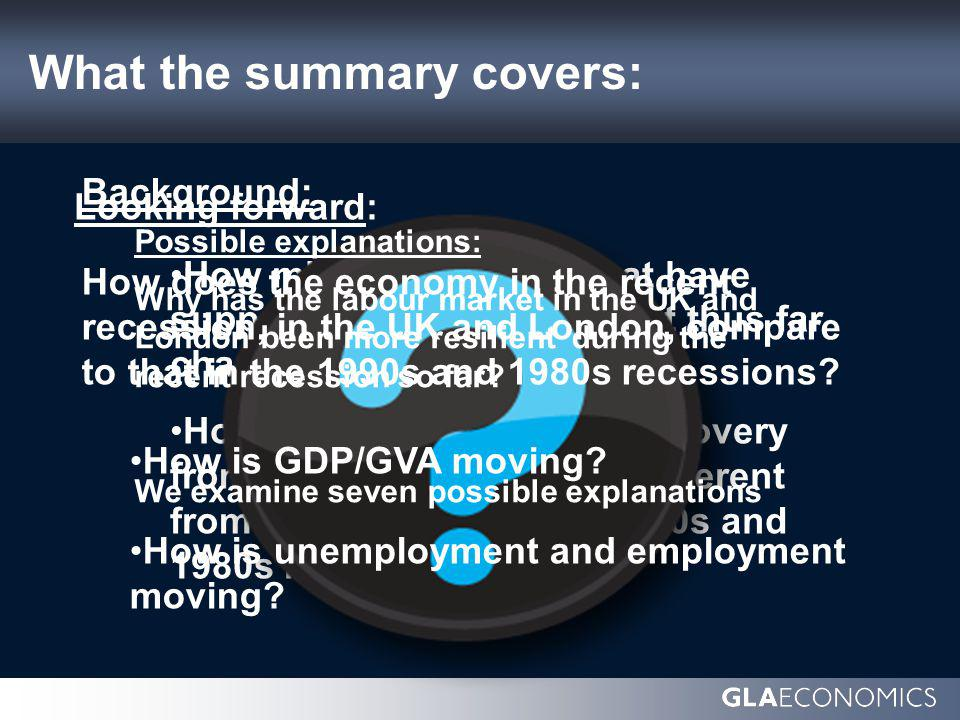 Looking forward: How might the factors that have supported the labour market thus far change going forward.