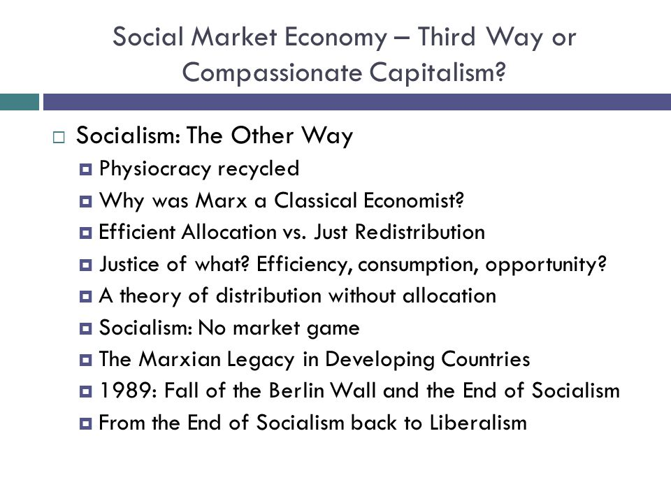 Socialism: The Other Way Physiocracy recycled Why was Marx a Classical Economist.
