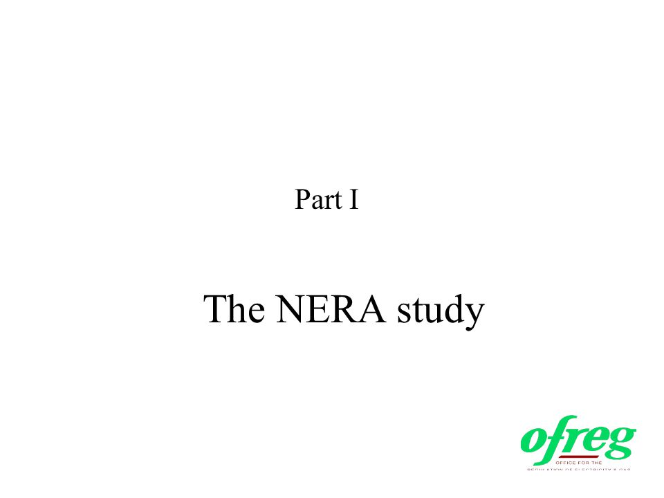 The NERA study Part I