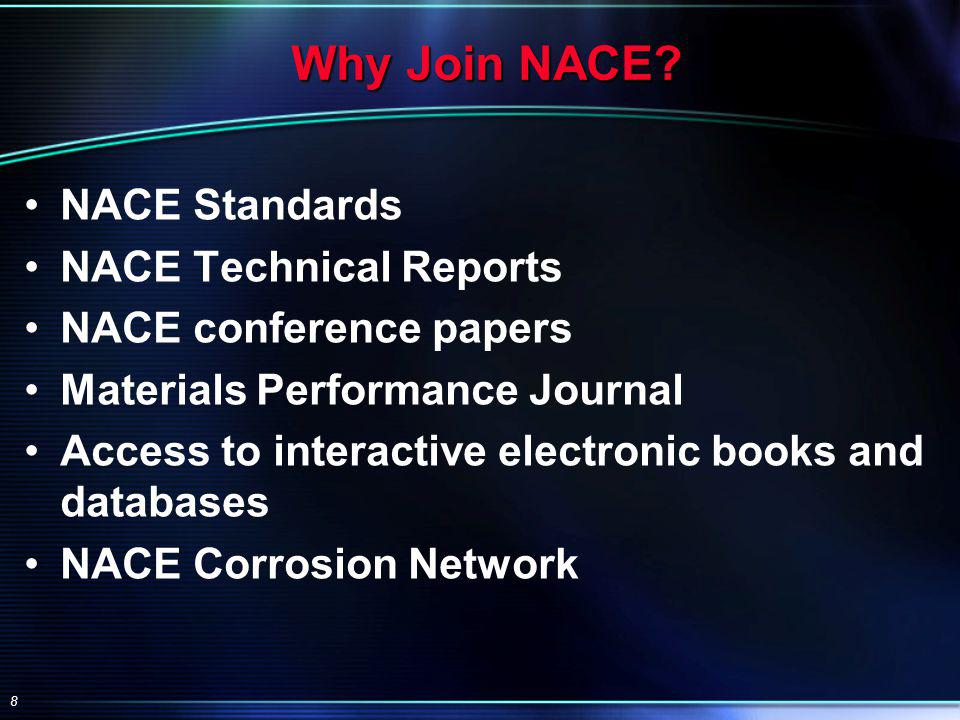 8 Why Join NACE.