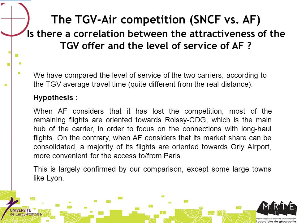 11 The TGV-Air competition (SNCF vs.