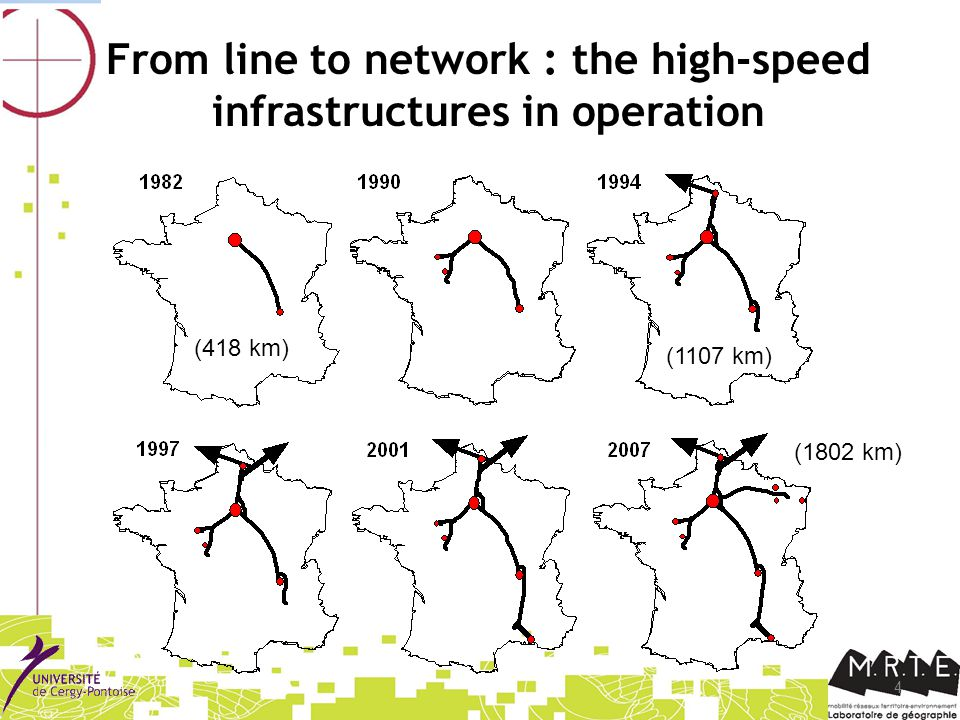 4 From line to network : the high-speed infrastructures in operation (1802 km) (1107 km) (418 km)