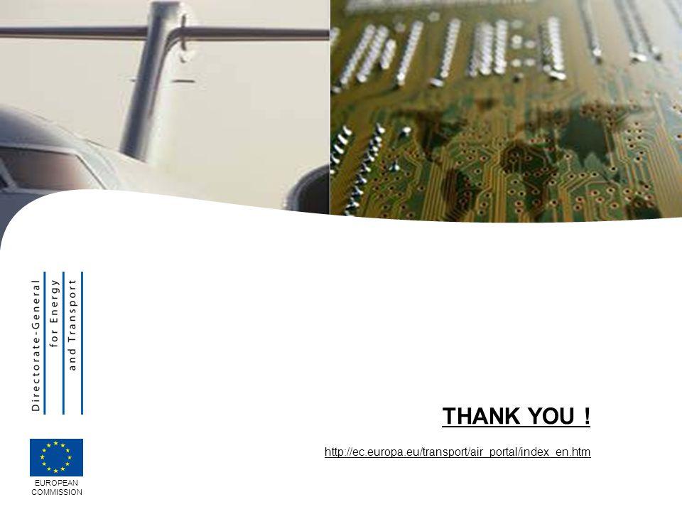 EUROPEAN COMMISSION THANK YOU ! http://ec.europa.eu/transport/air_portal/index_en.htm