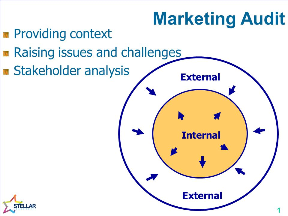 2 Marketing Audit Strengths Weaknesses External Internal Opportunities Threats