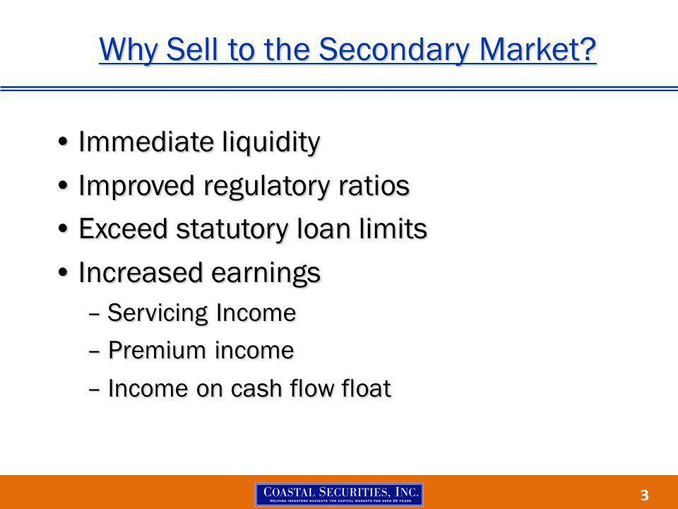 3 Why Sell to the Secondary Market.