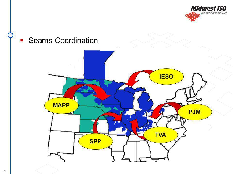 12 Seams Coordination SPP TVA MAPP IESO PJM