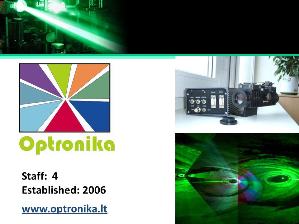 Established: Staff: 2006 4 www.optronika.lt