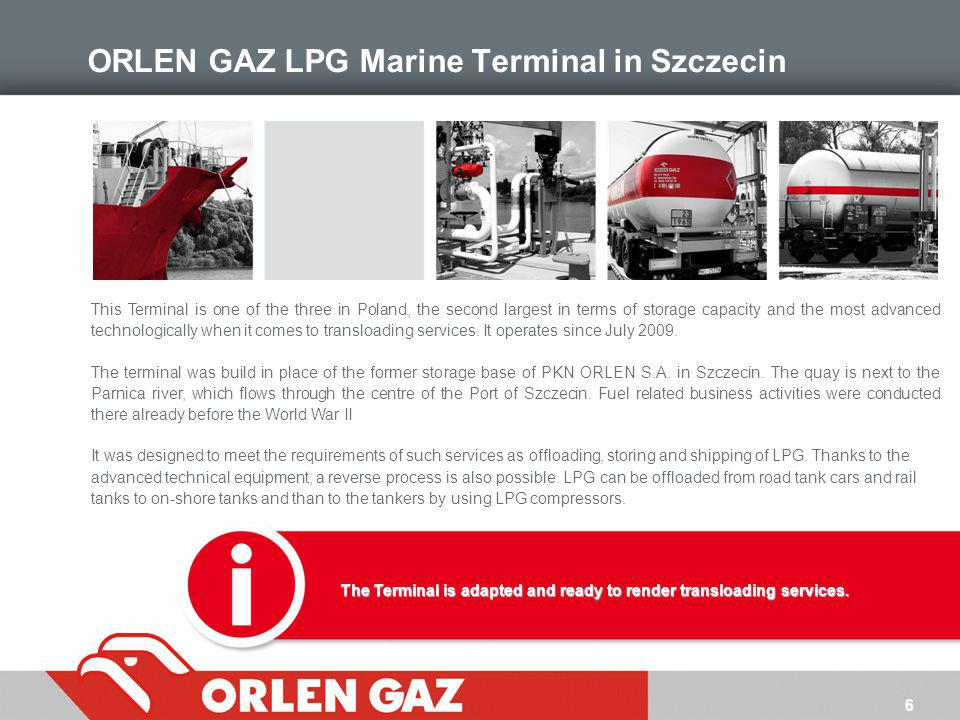 7 General Features of the Terminal GENERAL DATA 5 ha - working surface of the Terminal up to 4 000 tonnes - deadweight of the tankers about 100 000 tonnes - transloading capacity a yearQUAY 274 m - total length of the quay 74 m - length of the jetty 110 m - max.