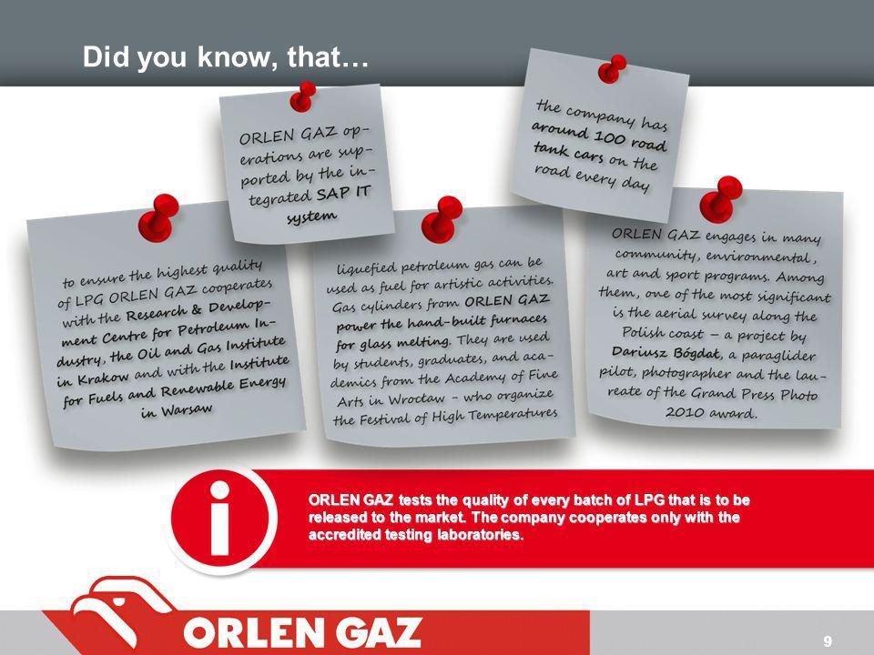 10 ORLEN GAZ – najlepszy wybór
