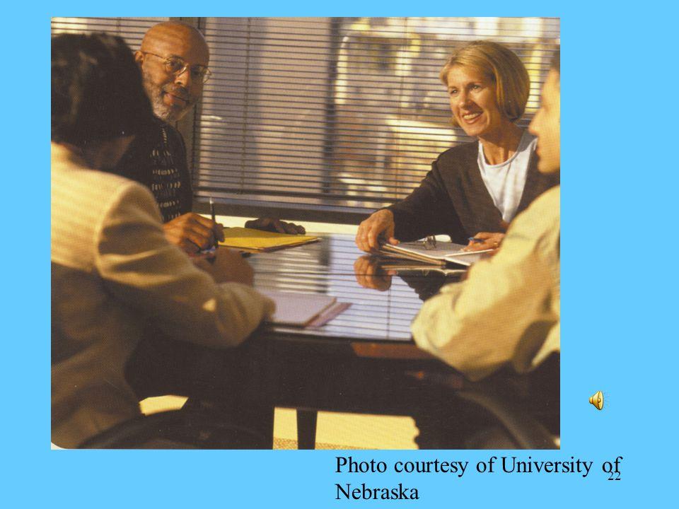 22 Photo courtesy of University of Nebraska