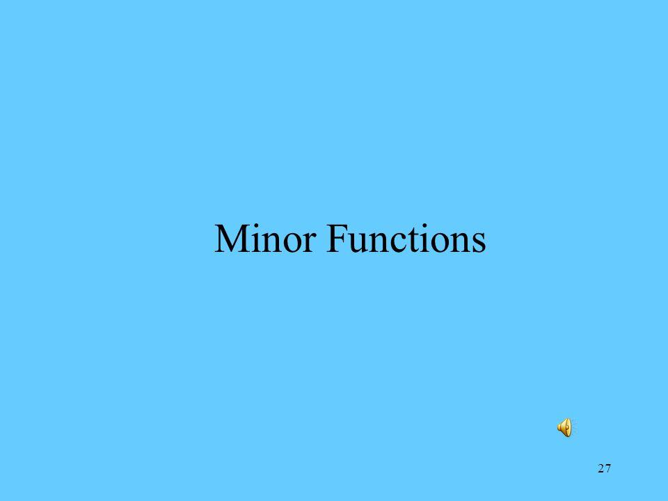 27 Minor Functions