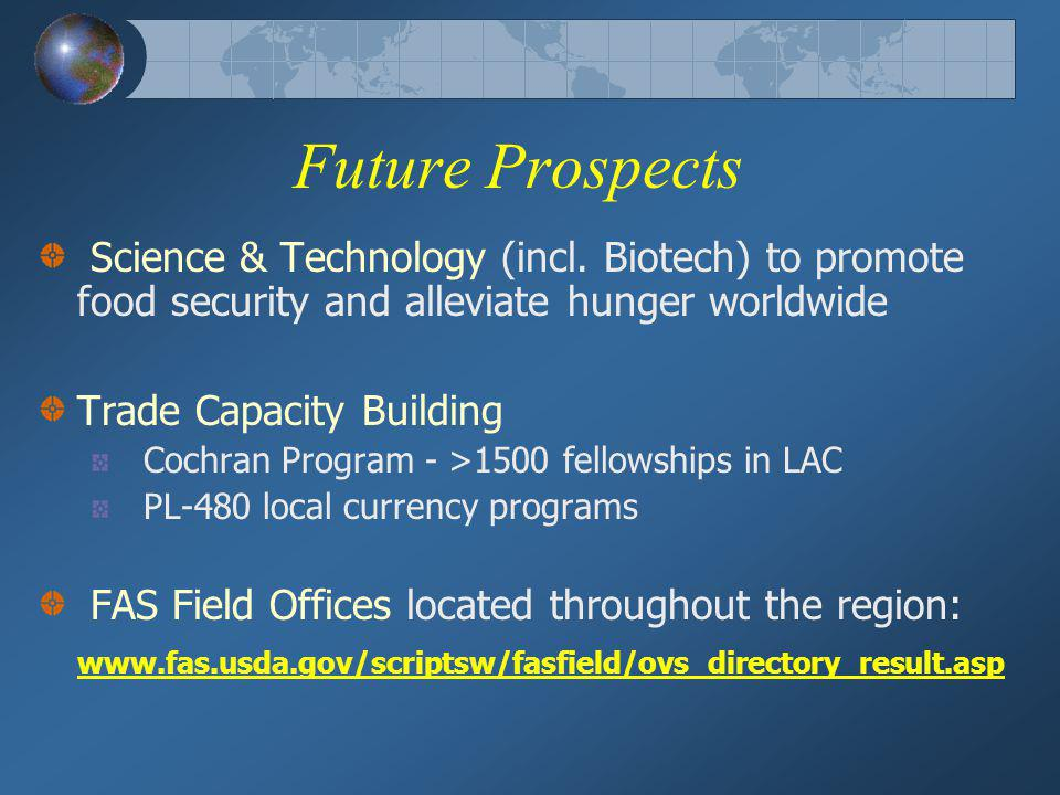 Future Prospects Science & Technology (incl.