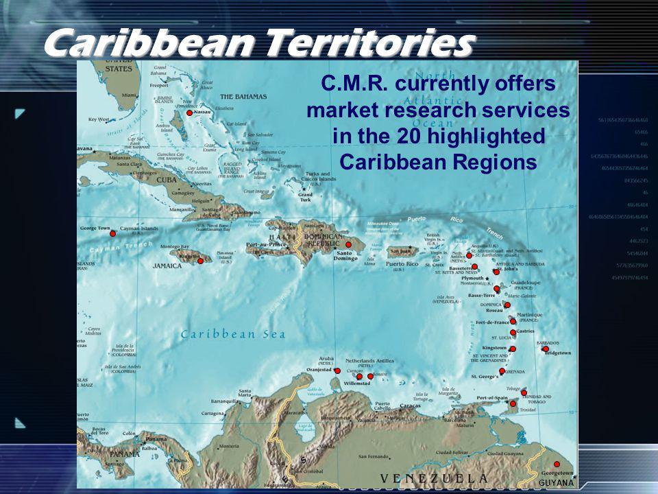 Caribbean Territories Serviced