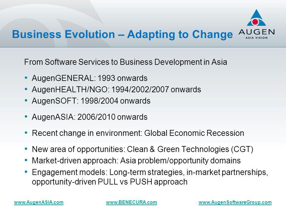 Opportunity ASEAN – to be continued… Questions & Answers www.BENECURA.comwww.AugenSoftwareGroup.comwww.AugenASIA.com