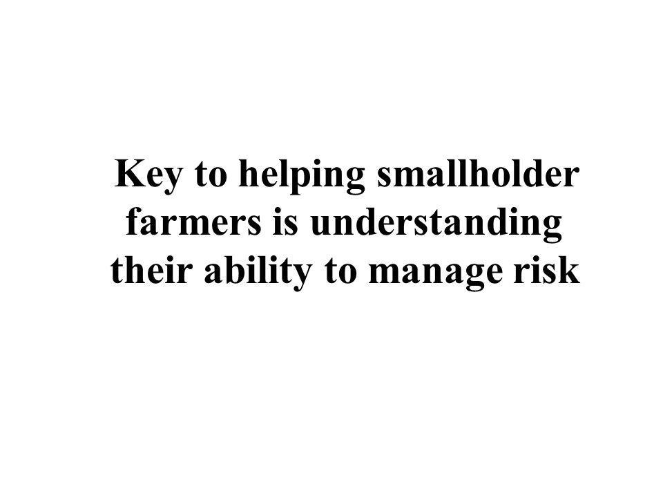 Key to helping smallholder farmers is understanding their ability to manage risk