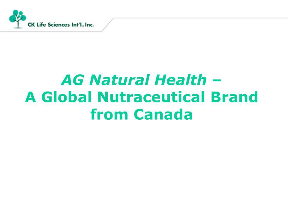 AG Natural Health – A Global Nutraceutical Brand from Canada