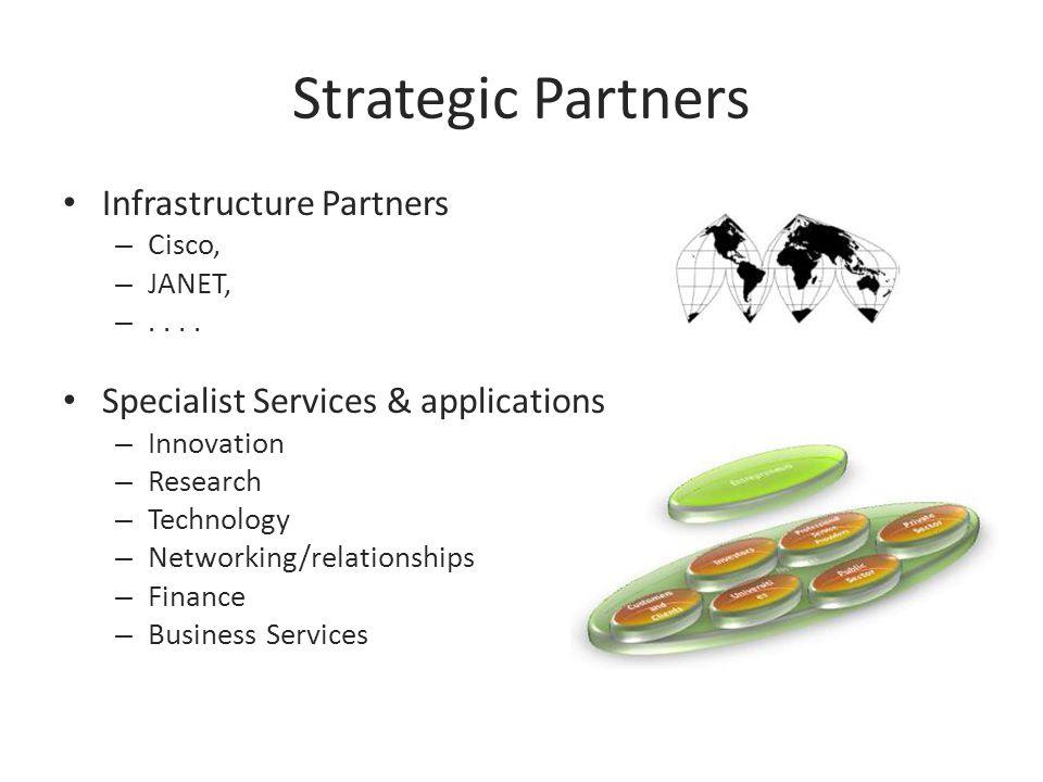 Strategic Partners Infrastructure Partners – Cisco, – JANET, –....
